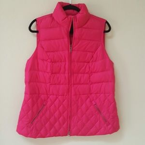 NWT Talbots Pink Quilted Puffer Vest